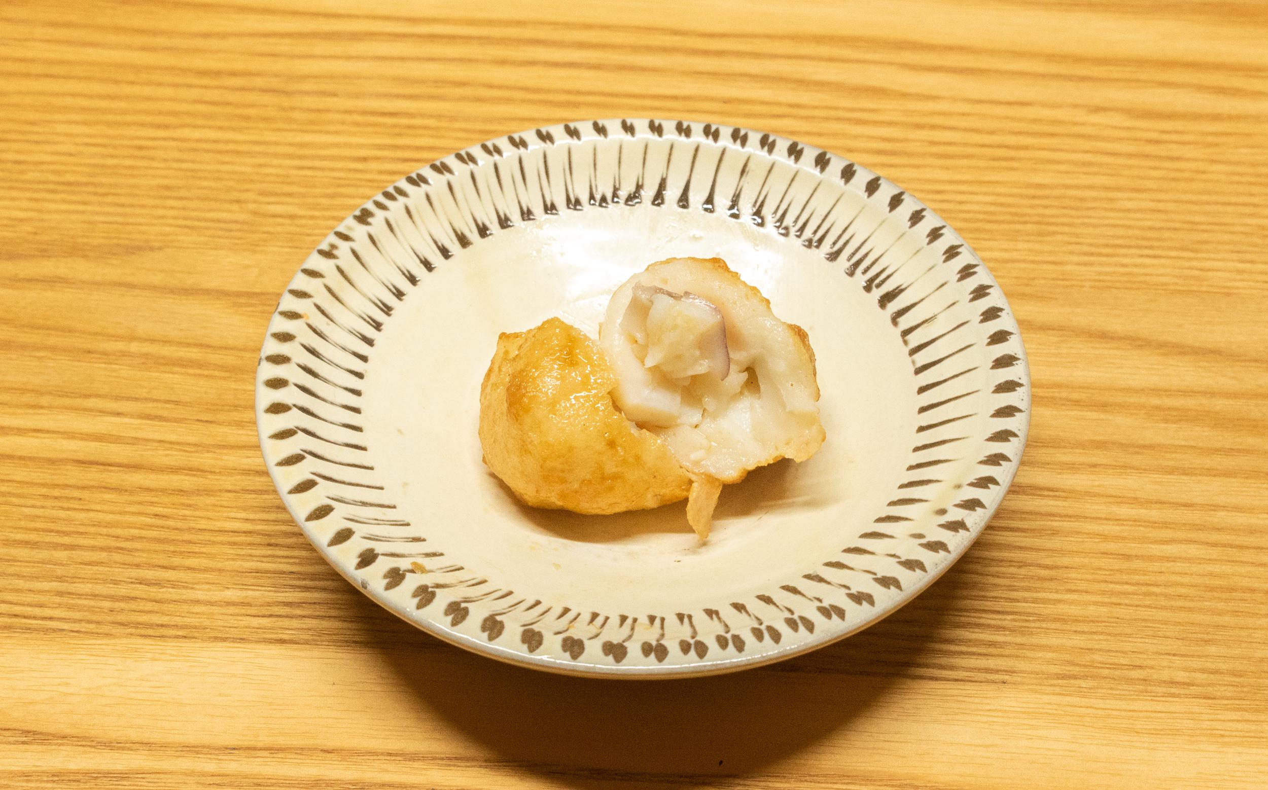 東京都板橋区蓮根 蓮根中央商店会 えびすや蒲鉾店のおでん種:もんごういか