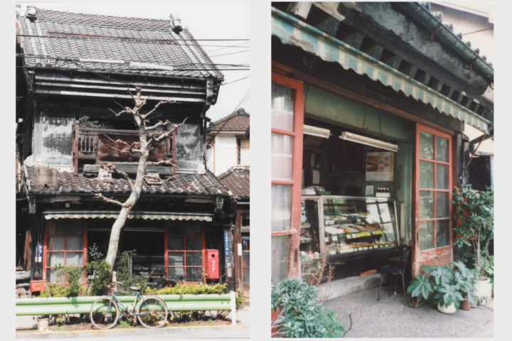 和泉屋蒲鉾店(根岸3丁目)左から平成元年(1989年)3月26日、平成3年(1991年)6月30日撮影:ぼくの近代建築コレクションより転載