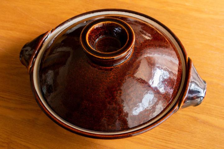 三重県伊賀:やまほん陶房の土鍋九寸飴釉