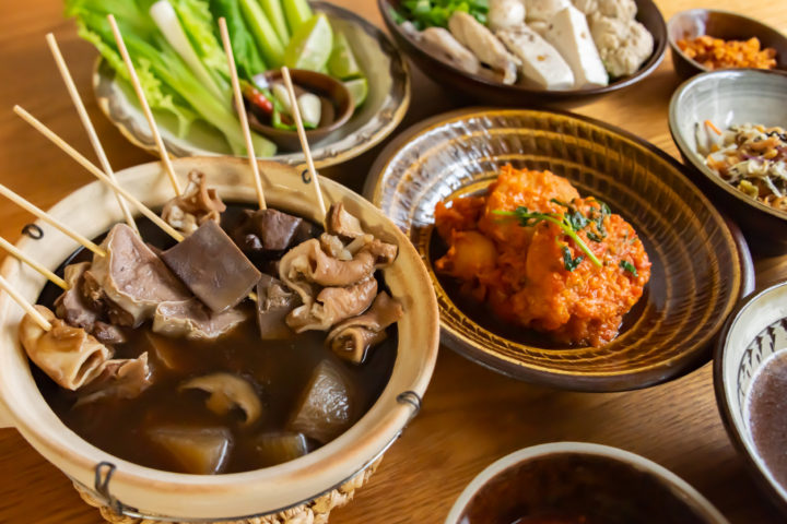 ミャンマーのおでんとすり身を使った料理
