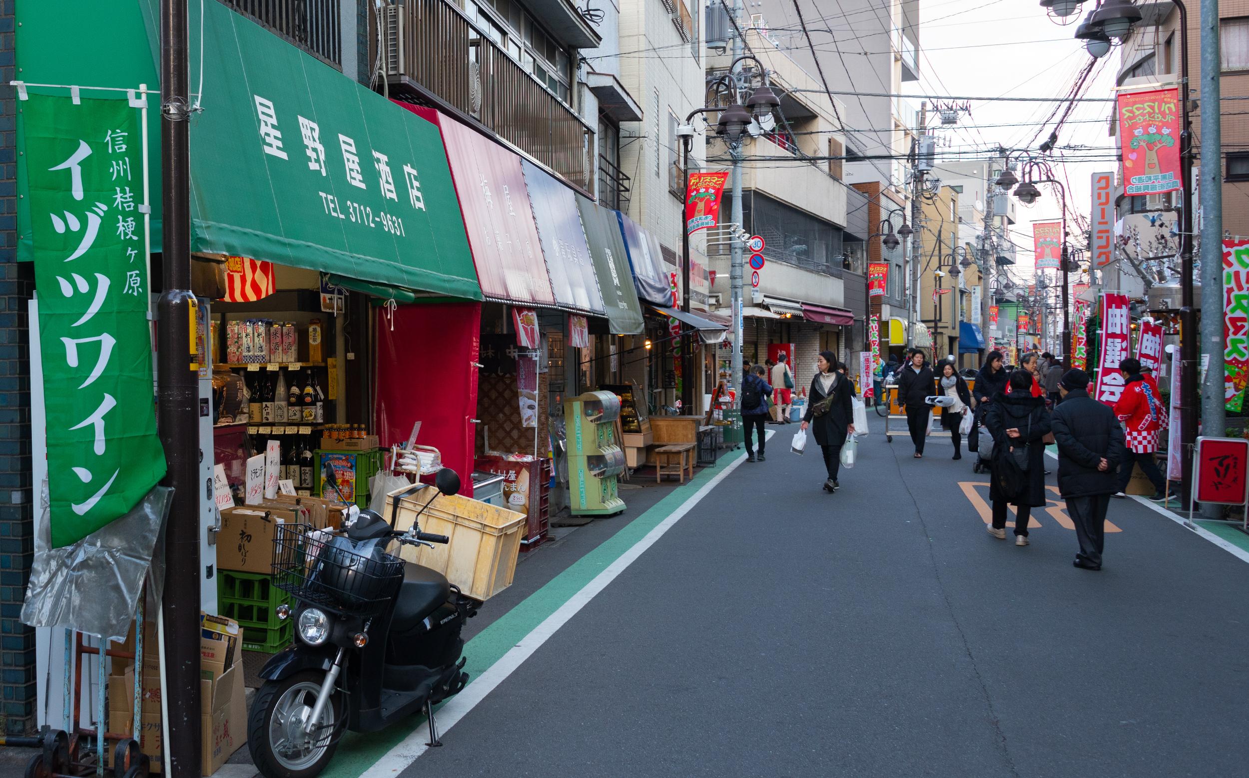 東京都目黒区目黒本町:平和通り商店街
